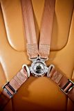 Seatbelt in the private plane Stock Photography