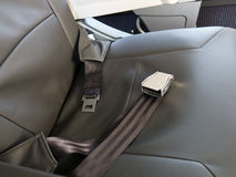 Seatbelt Safety passenger Jet Chair Stock Photo