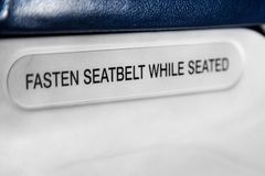 Seatbelt sign royalty free stock images