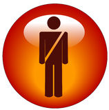 Seatbelt web button Royalty Free Stock Photography