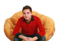 Seated asian man Stock Photos
