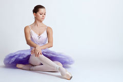 Seated ballerina Stock Photo
