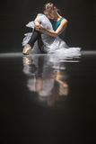 Seated ballet dancer Royalty Free Stock Images