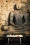 Seated Buddha, Gal Vihara, Polonnaruwa, Sri Lanka. The Gal Vihara, also known as Gal Viharaya and originally as the Uttararama, is a rock temple of the Buddha Stock Photography