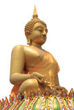 Seated buddha image isolated Stock Photography