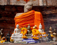 Seated Buddha Image. At Kudi Dao temple, Ayutthaya royalty free stock photography