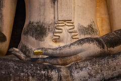 Seated Buddha image at  Wat Si Chum temple in Sukhothai, Thailand Stock Photography