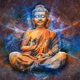 Seated Buddha in a Lotus Pose royalty free illustration