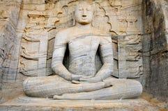 Seated Buddha, Pollonaruwa Royalty Free Stock Photo
