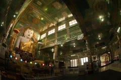 The seated Buddha presiding in Soon U Pone Nya Shi Stock Photo