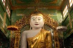 The seated Buddha presiding in Soon U Pone Nya Shi Stock Image