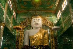 The seated Buddha presiding in Soon U Pone Nya Shi Royalty Free Stock Photography