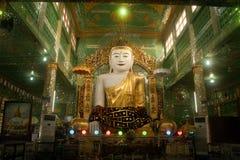 The seated Buddha presiding in Soon U Pone Nya Shi Stock Photos