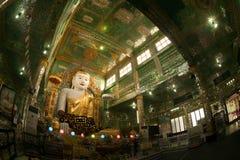 The seated Buddha presiding in Soon U Pone Nya Shi Royalty Free Stock Photography