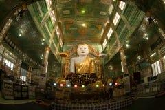 The seated Buddha presiding in Soon U Pone Nya Shi Royalty Free Stock Photo