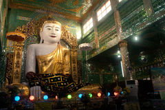 The seated Buddha presiding in Soon U Pone Nya Shin Paya,Myanmar Royalty Free Stock Images