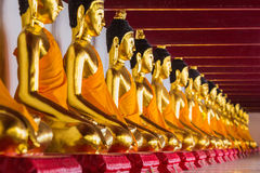 Seated Buddha states Royalty Free Stock Photos