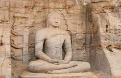 Seated Buddha. Statue Seated Buddha in Polonnaruwa Royalty Free Stock Images