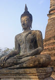 Seated buddha statue in Sukhothai Royalty Free Stock Photos