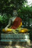 Seated Buddha Statue at Temple in Surat, Thailand. Royalty Free Stock Images