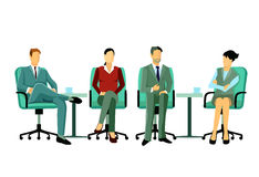 Seated business professionals Stock Photos