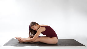 Seated Forward Bend Royalty Free Stock Photos