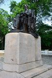 Seated Lincoln in Grant Park. Seated Lincoln bronze statue in Grant Park, Chicago stock image