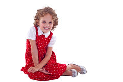 Seated little girl Royalty Free Stock Photo
