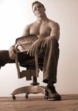 Seated male Stock Photo