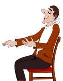 Seated man Royalty Free Stock Image