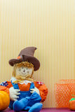 Seated Scarecrow Holding Its Britches Royalty Free Stock Photo