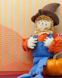 Seated Scarecrow Holding Its Britches Stock Photos