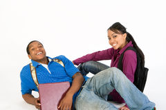 Seated Smiling Students - Horizontal Royalty Free Stock Photography