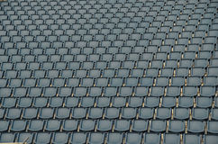 Seated in a stadion. Many seated in a stadion Stock Photography