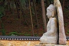 Free Seated Stone Buddha Statue At Mireuggok Of Namsan, Gyeongju Royalty Free Stock Photos - 92611038