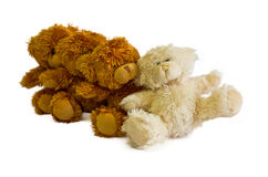Seated teddy bears Stock Images