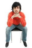Seated Royalty Free Stock Photo