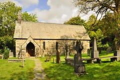 Seathwaite kyrka, Cumbria royaltyfri fotografi