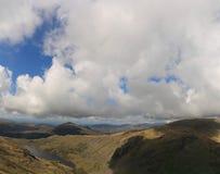 Seathwaite Tarn panorama Arkivfoto