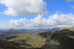 Seathwaite Tarn Panorama Stock Image