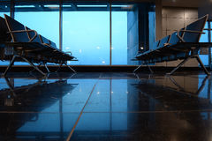 Seating at airport gate or lounge  Stock Images