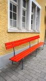 Seating Area At Train Station Vitznau Stock Photo