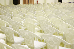 Seating arrangement in a auditorium Stock Image