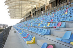 Seating arrangment in main grandstand of BIC Stock Photo