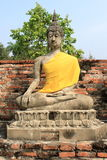 Seating Buddha image. In Ayutthaya, Thailand stock image