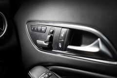 Seating controls. In a expensive car royalty free stock photo