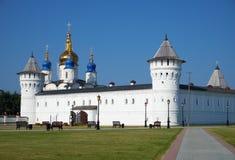 Free Seating Courtyard And Sophia-Assumption Cathedral. Tobolsk Kremlin. Tobolsk. Russia Royalty Free Stock Image - 141630136