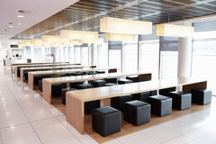 Seating in the empty cafeteria of a large business Royalty Free Stock Photo