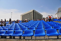 Seating for Formula One, Singapore Royalty Free Stock Photos