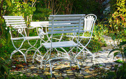 Seating group in garden Royalty Free Stock Photo